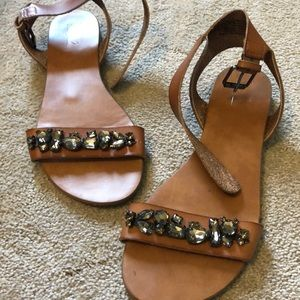 Tan and Beaded Sandals